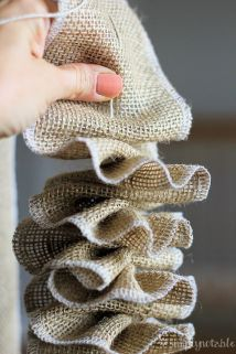 Burlap Christmas Tree Wreath 5