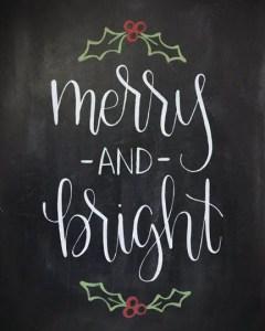 Christmas Chalkboard Art 14