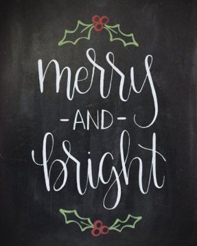 Christmas Chalkboard Art 14