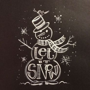 Christmas Chalkboard Art 21