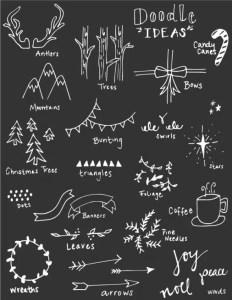 Christmas Chalkboard Art 23