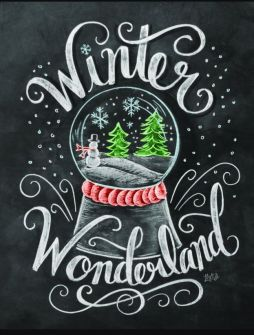 Christmas Chalkboard Art 8