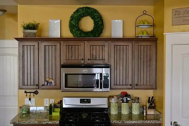Wreaths On Kitchen Cabinet Doors10