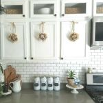 Wreaths On Kitchen Cabinet Doors5