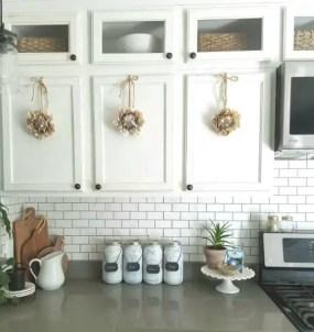 Wreaths On Kitchen Cabinet Doors5