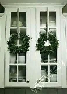 Wreaths On Kitchen Cabinet Doors7