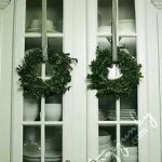 Wreaths On Kitchen Cabinet Doors7
