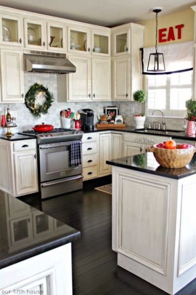 Wreaths On Kitchen Cabinet Doors9
