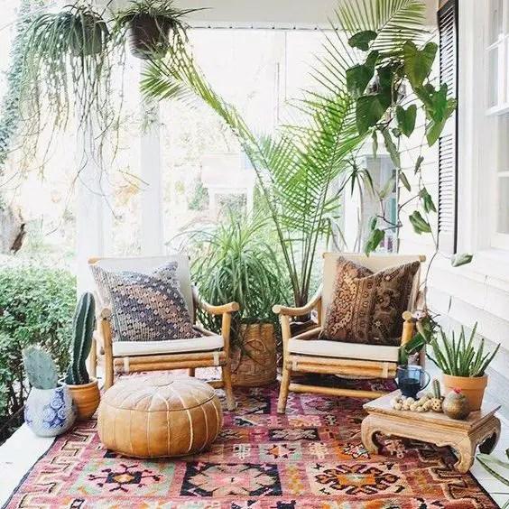 10 Beautiful Bohemian Patio Ideas - decoratoo on Chic Patio Ideas id=73641