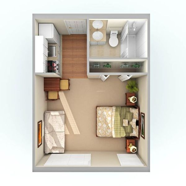 One Room Apartment 12 Result