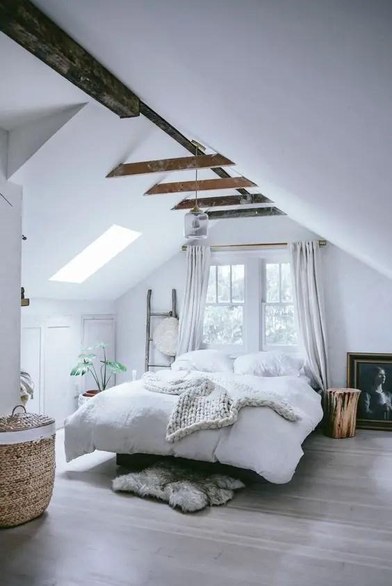 19 Ideas of Minimalist and Modern Attic Bedroom - decoratoo