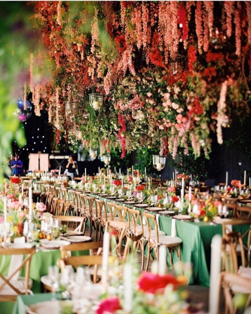 Hanging Flower For Reception Table