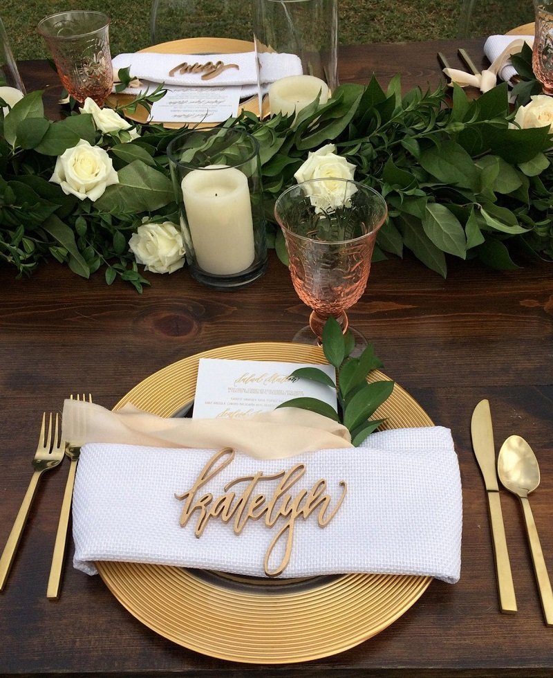 Laser Cut Fabric Table Cards