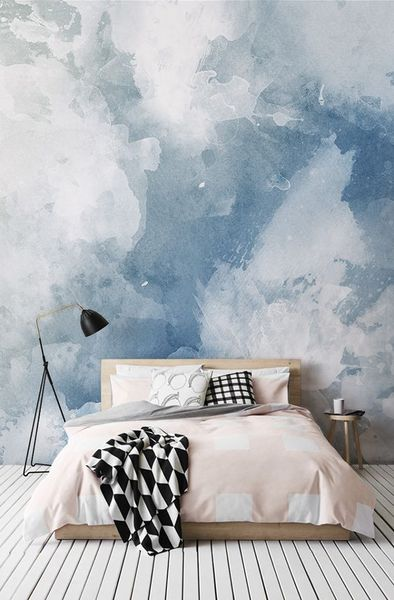 1 Blue And White Watercolor Wallpaper