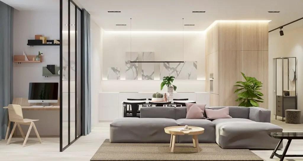 Minimalist Living Room (17) Result