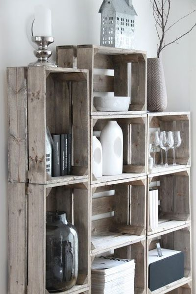 Lovely Rustic Looking Decor Shelves
