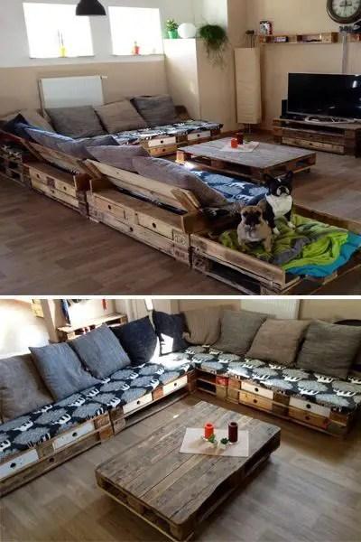 Wooden Pallets Sofa 21