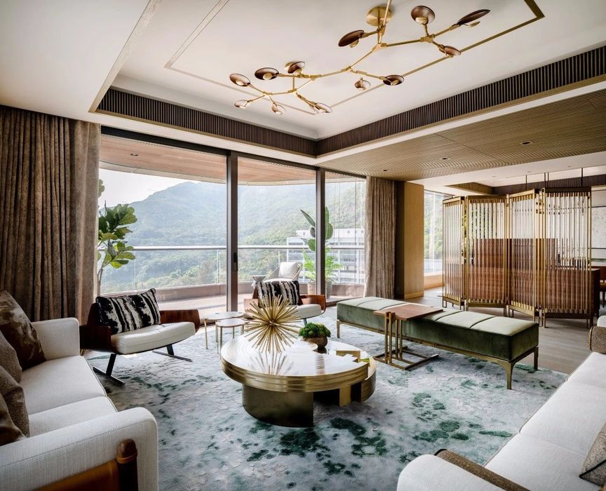 Deep Water Bay Hong Kong mansion, Modern style combined with the Brazilian Medieval Interior