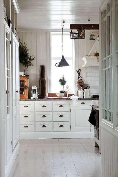 scandinavian white kitchen House tour: Christmas Scandinavian style - Decorator's