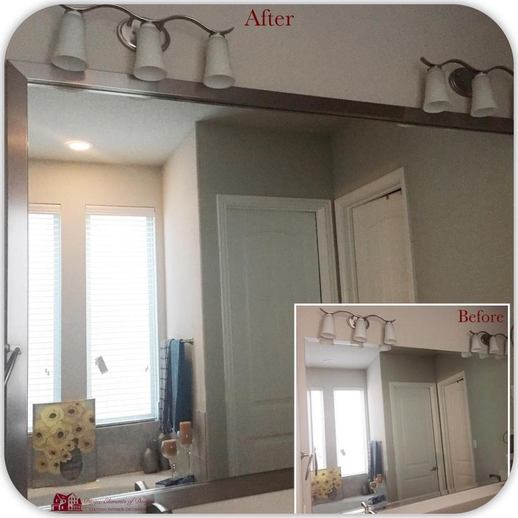 Mirror Makeover Monday!! We love this beautiful mirror transformation usinghellip