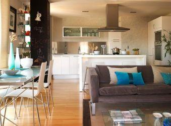 Salón comedor y cocina integrados