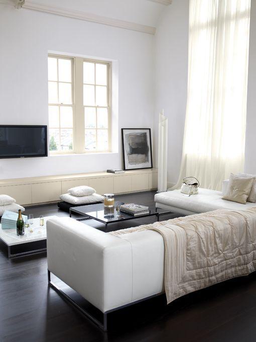 Decorar con muebles blancos