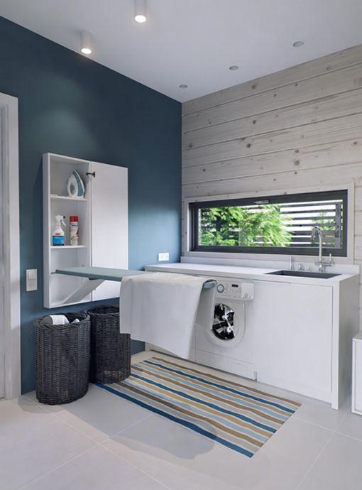 Ideas para crear una zona de lavado y plancha