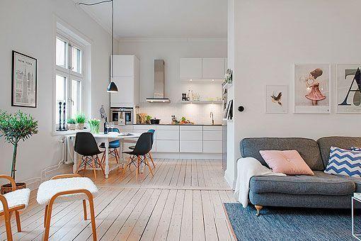 Apartamento femenino elegante acogedor y luminoso