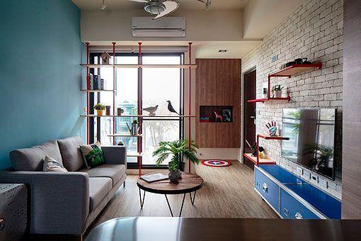 Apartamento juvenil y moderno de 60 metros
