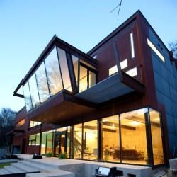moderna casa concreto cristal arquitectura dicom arquitec decoratrucos haus pantalla