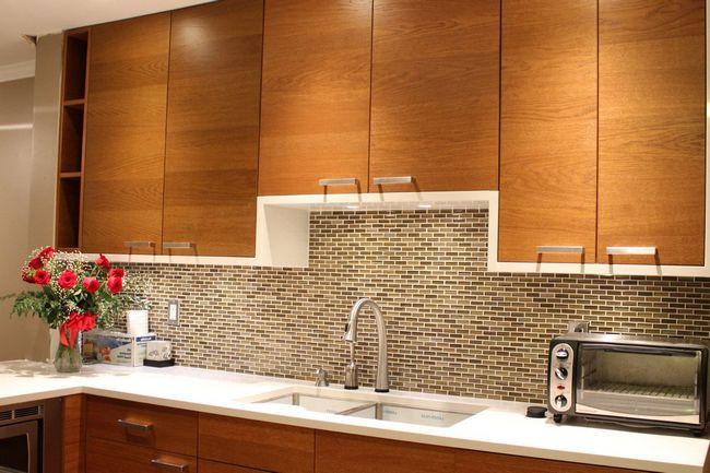 backsplash stick on tiles kitchen stools walmart revolutionary solution for walls: peel and ...