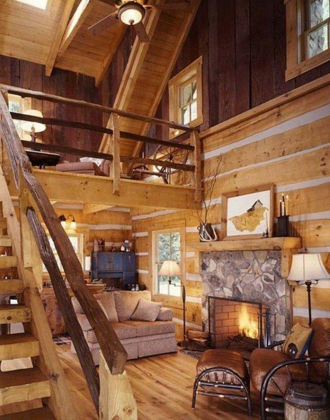 Log cabin decorating ideas  Decor Around The World