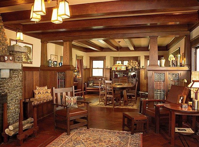 wooden living room chairs wall pictures for cheap modern craftsman interior design - decor around the world