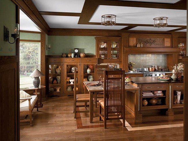 oak kitchen cabinet undermount single bowl sink modern craftsman interior design - decor around the world