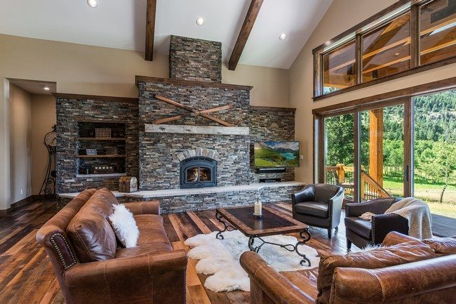 Rock Fireplaces In The House  Decor Around The World