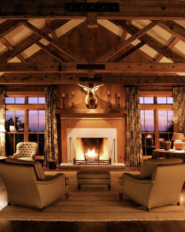 wide living room chair small sectional sets rustic interiors: bring the atmosphere of village to ...