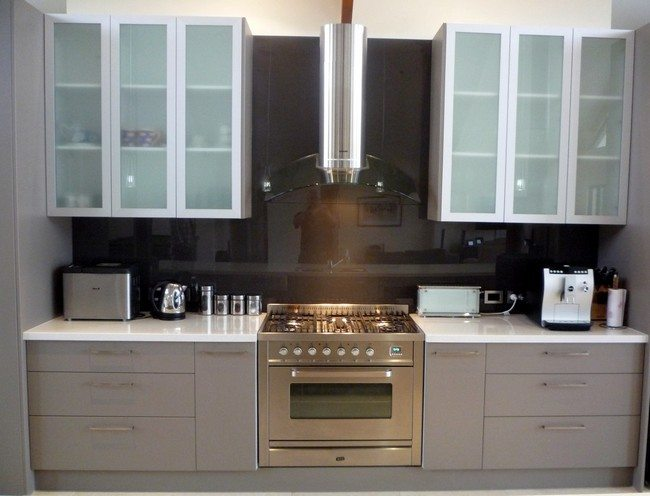 white kitchen cabinet doors delta faucet parts ideas on installing the best frosted glass cabinets in ...