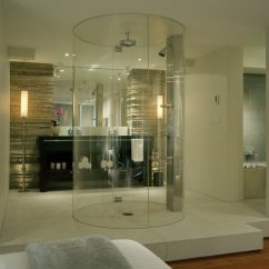 Contemporary Wall Decor For Living Room Minimalist Small Space Design Of The Doorless Walk In Shower - Around World