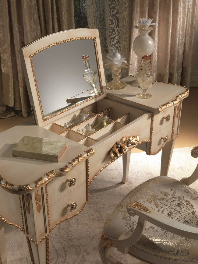 antique vanity chair wedding cover hire milton keynes mirrored makeup storage is a stylish way to unclutter the table or bathroom - decor ...