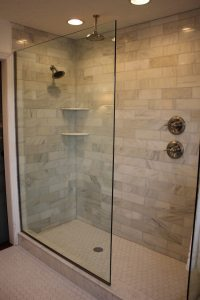 Design Of The Doorless Walk In Shower