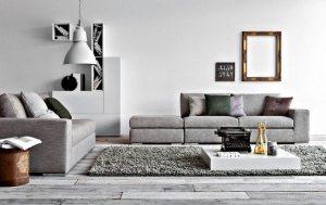 living scandinavian background gray sofa furniture