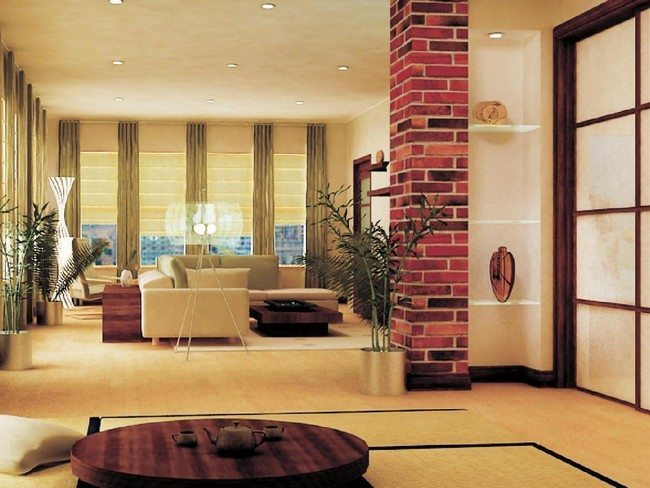 modern living room curtains small ideas with fireplace and tv zen design - decor around the world