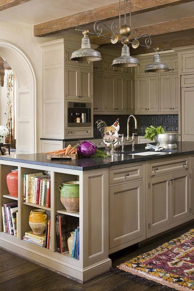 kitchen island ideas for small kitchens kingston brass faucets countertop cookbook shelf- a simple yet elegant way to ...