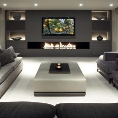 How To Decorate A Living Room With Fireplace Open Kitchen Designs India Ways Grey Rooms - Decor Around The World