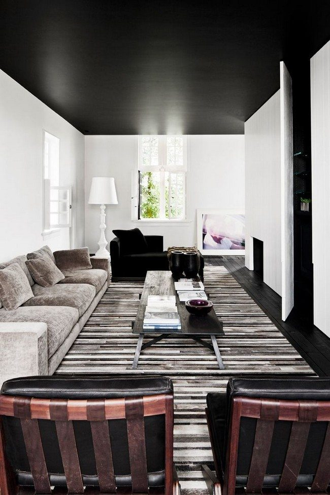 Black ceiling for White walls black ceiling