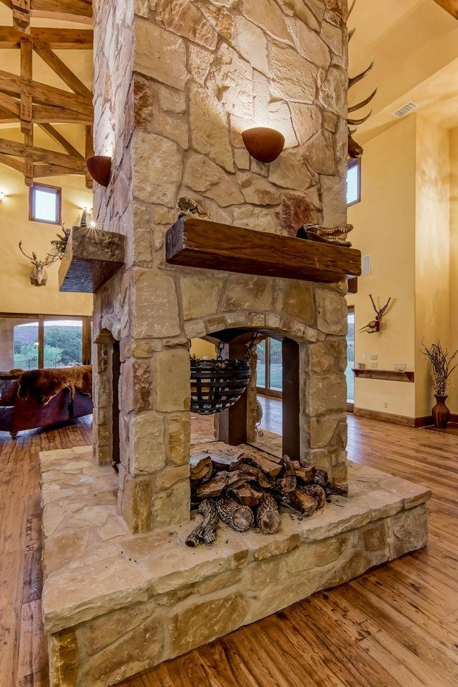 how to decorate a living room with wood burning stove modern decorating ideas 2016 transform your spacious space double-sided ...