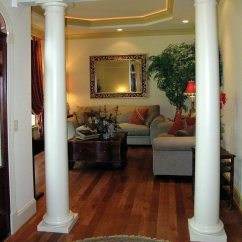 Ideas How To Decorate Living Room Contemporary Art Use Columns Create Rich Details ...