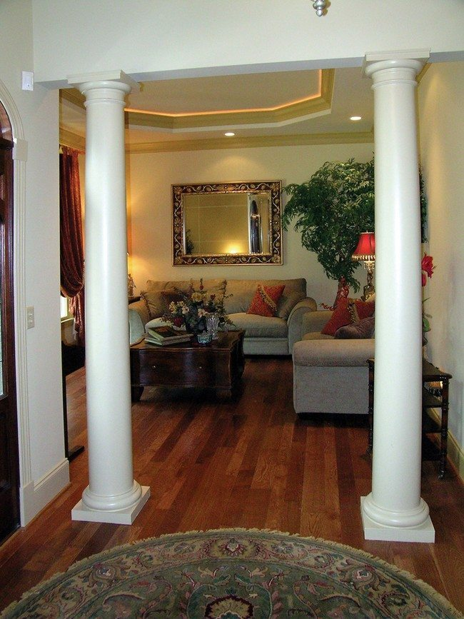 ideas how to decorate living room clock use columns create rich details ...