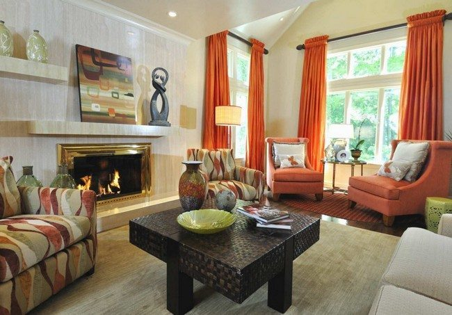 Orange Living Room Pictures