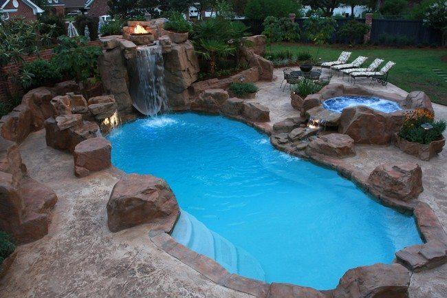 Pool Waterfall Ideas You Can Recreate In Your Backyard
